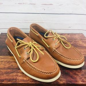 Sperry 2-Eye Boat Leather Shoes Size 11 Cognac